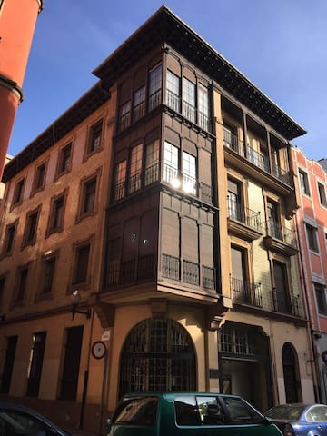 Zona centro, amplia, 100 m playa. - Gijón - Apartment
