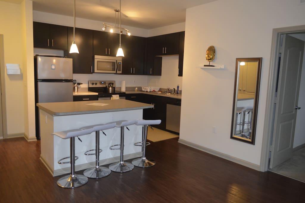 Kitchen area, Dining area