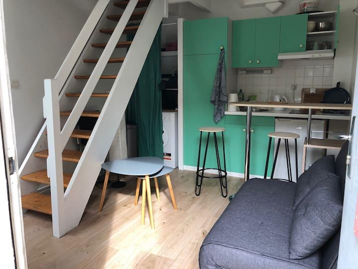Très mignon Petit Studio en duplex, au calme !