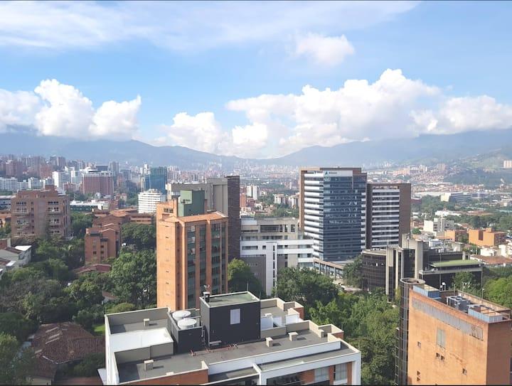 23th high floor.poblado location, in Medellin