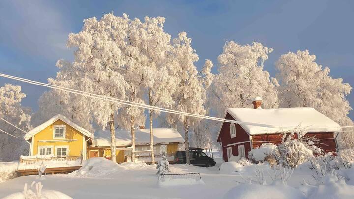 Villa med sjö- och fjällutsikt 10km från Östersund