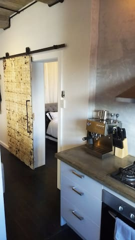 The apartment has was renovated using materials from Carlton to Castlemaine and as far as Coolangatta....