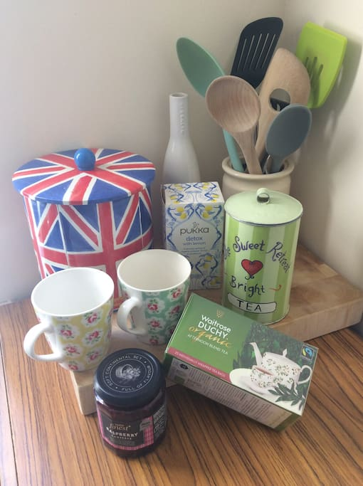 Tea,coffee and breakfast supplies provided