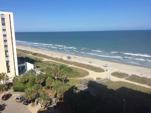 Relax at this beachfront condo!