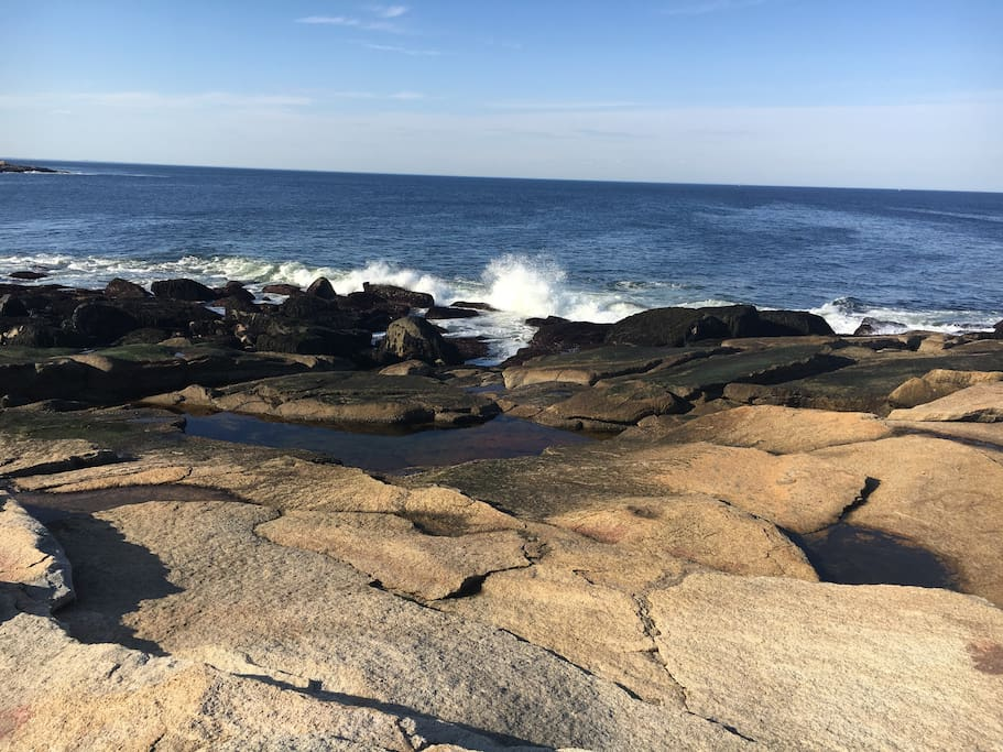 Notice the tidal pool--ideal for cooling off  on those hot summer days.