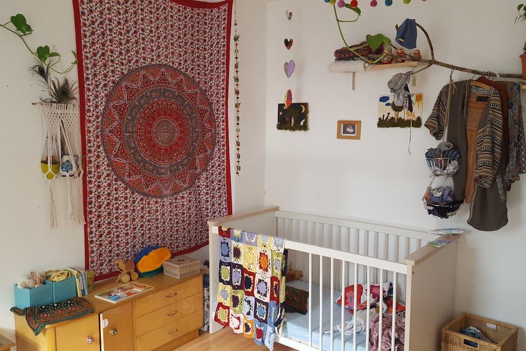 Das Babybett kann nach Bedarf gerne benutzt werden