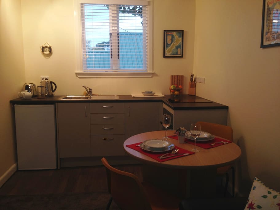 Your fully equipped kitchen area