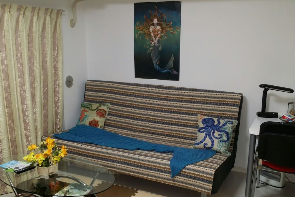 Wide sofa/double bed