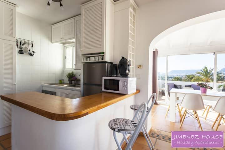 JH4º Apartamento para 8 con vistas al Mar