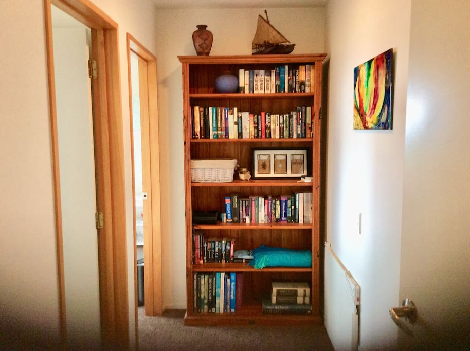 Hallway of Apartment/ good selection of books, have a read