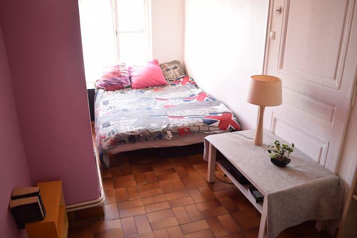 Chambre à la croix rousse dans appartement funky. - Lyon - Lejlighed