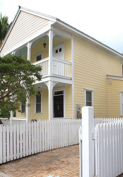 Side view of house and off street parking