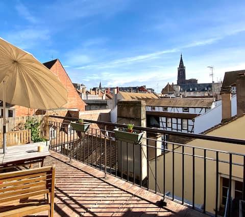 Charmant duplex avec grand rooftop en hyper centre