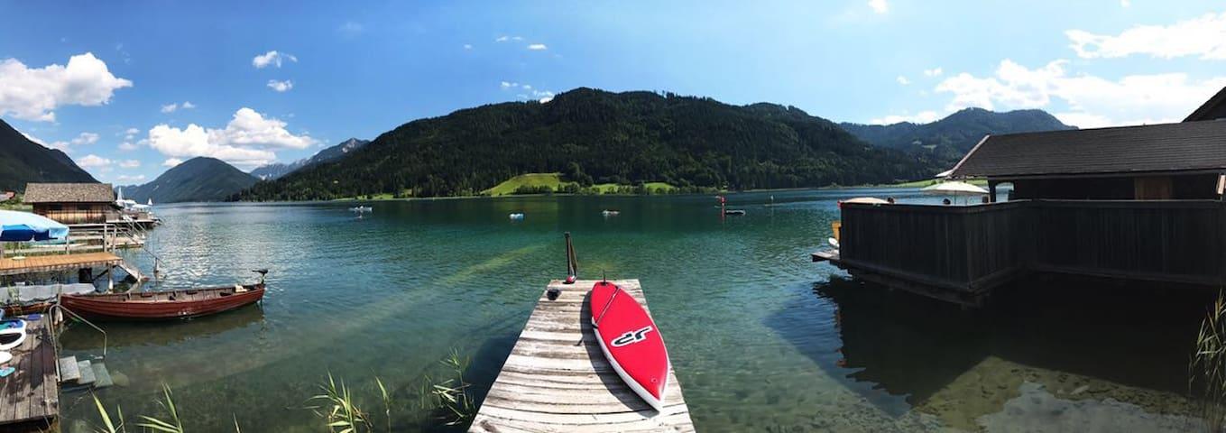 Gemütliche Ferienwohnung mit Balkon und Seezugang
