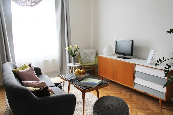 Prague Design Apartment w/easy access to centre