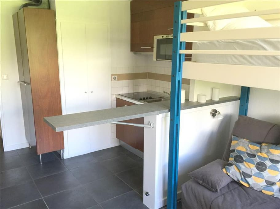The kitchen with extendable table