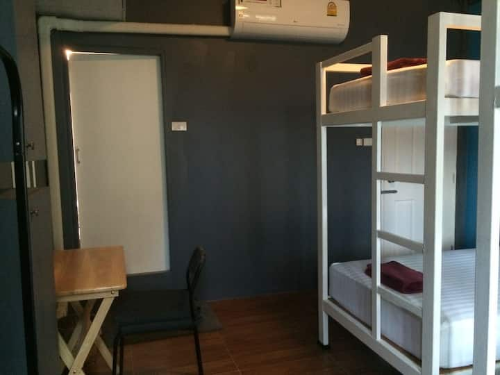 Private Bunk Room w/ bathroom  in Central Sathorn!