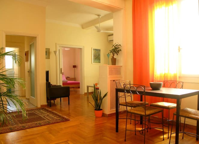 "Bright 3 bedroom apt at ""Megaron"" metro station. - Kentrikos Tomeas Athinon - Apartment"