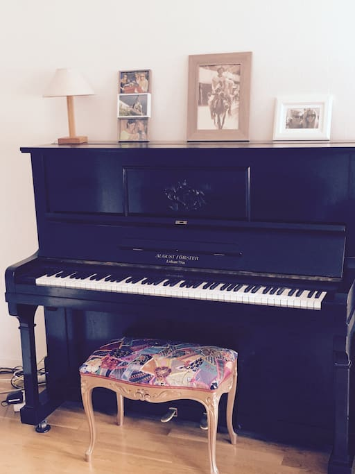 My piano, in the livingroom