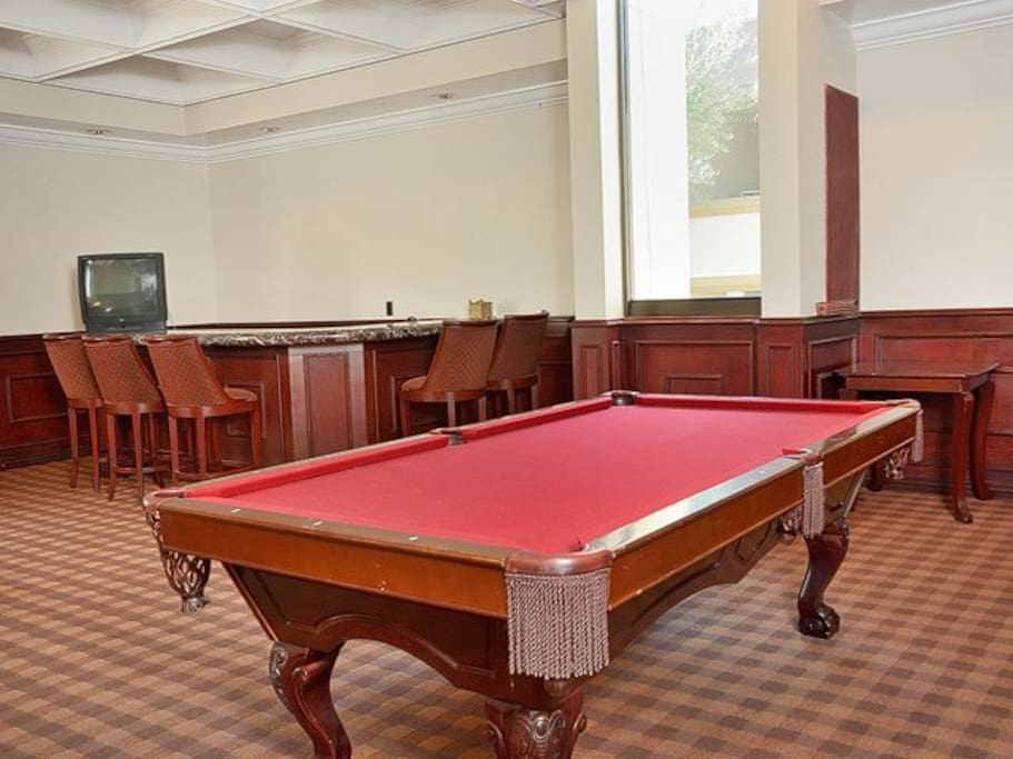 Pool table in the Club House