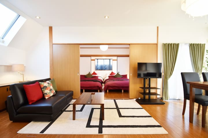 A big house in great Shinjuku area. FreeWIFI AS584
