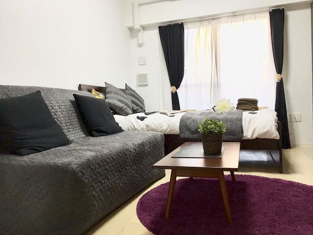 New open! 2 mins from Namba sta by subway#RE6F - Naniwa Ward, Osaka - Apartamento