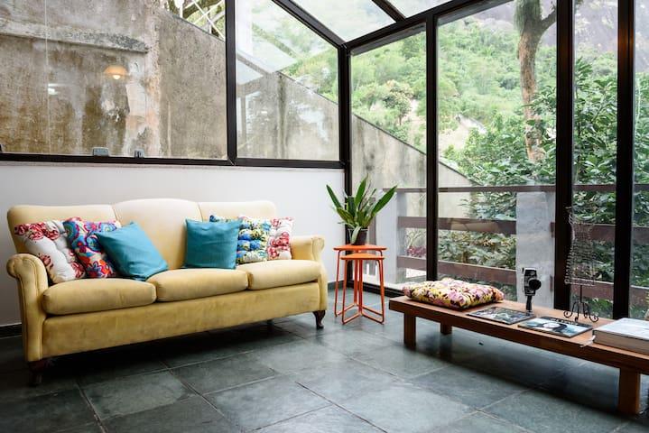 Aconchegante Quarto com Varanda e Vista pra Lagoa - Río de Janeiro - Casa