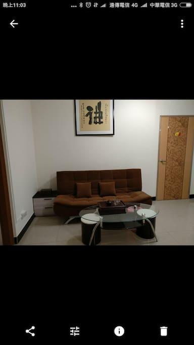 開房的客廳空間