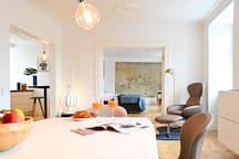 Fantastic Duplex Apartment with Modern Danish Design Furniture