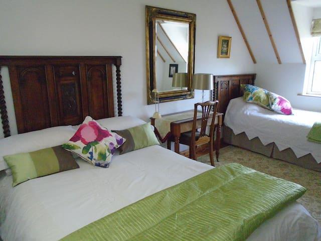 Bedroom 1 (1 double, 1 Single Bed)