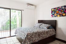 1st Bedroom with Queen and Full Bed
