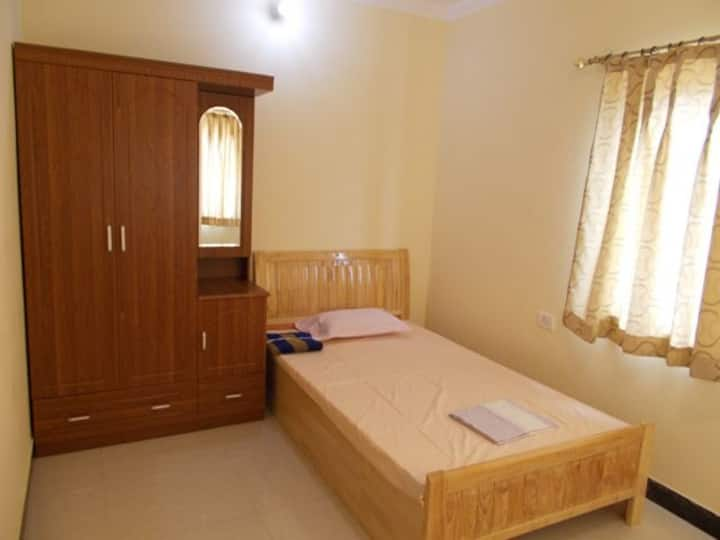 Furnished Clean,secured 1 BHK(#303)nearISKCON