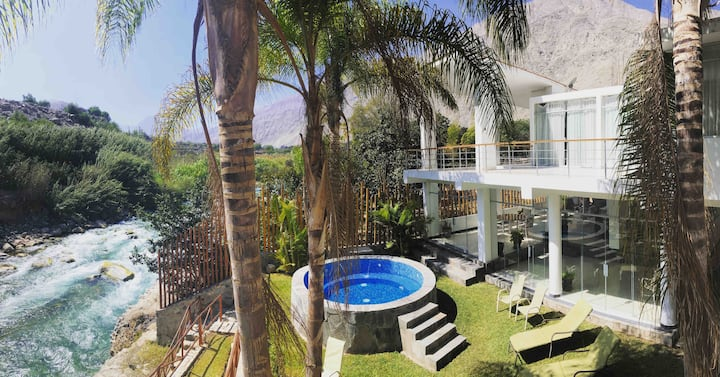 Casa de campo con salida al río y piscina privada