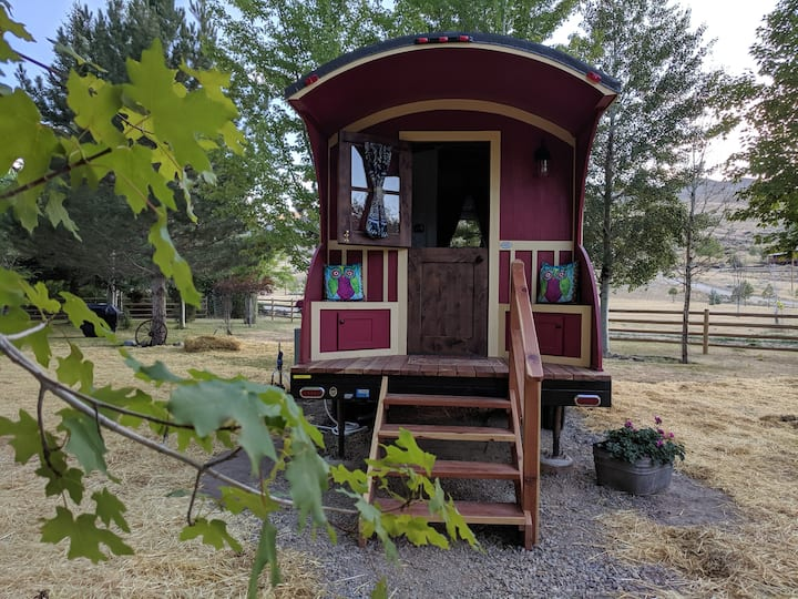 15% off -#3 Gypsy Wagon/Tiny House on the River