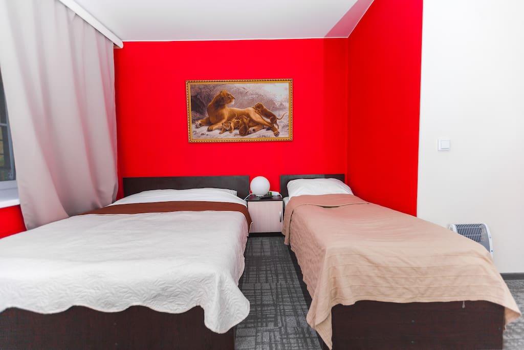 Четырехместная комната, спальня