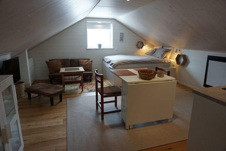 Mysig loft lägenhet i Byskogen 5km från Östersund