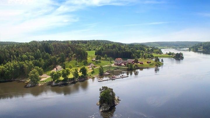 Hytte med ro, natur, utsikt, fiske og livsglede