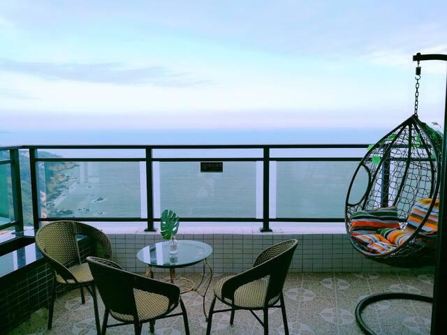 南澳岛180度大阳台看日出海景商务大床房
