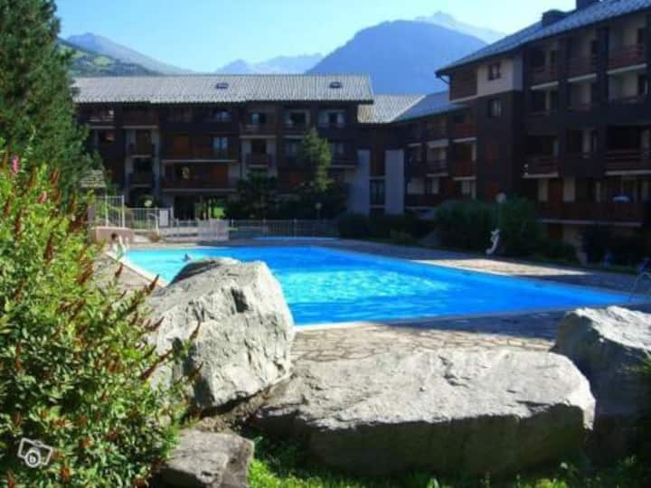 Bourg Saint Maurice studio with shared pool
