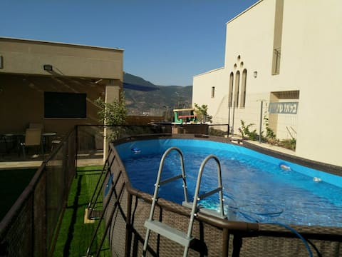Galilee view villa on a cliff – pool – sea view