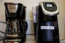 Coffee maker and Keurig machine in the kitchen