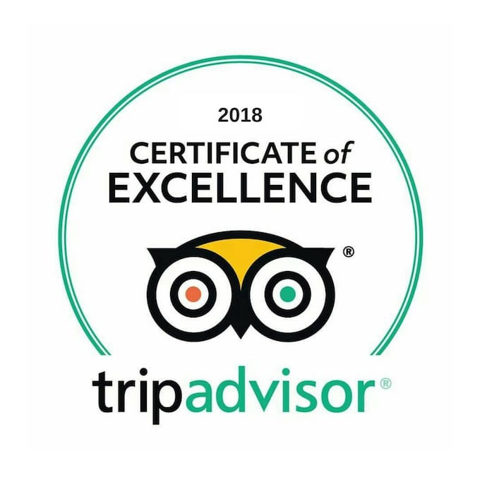 Received the TripAdvisor Certificate of Excellence in 2018 :)