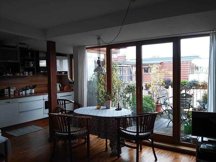 Wohnzimmer mit Küche / Diningroom with kittchen