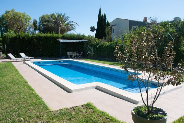 Modern Holiday Home in St Jaume d'Enveja with Private Pool
