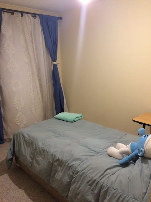Pieza para el huésped con una cama