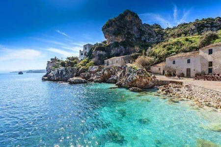 Splendido e panoramico 150 metri dal mare wifi UA - Alcamo Marina
