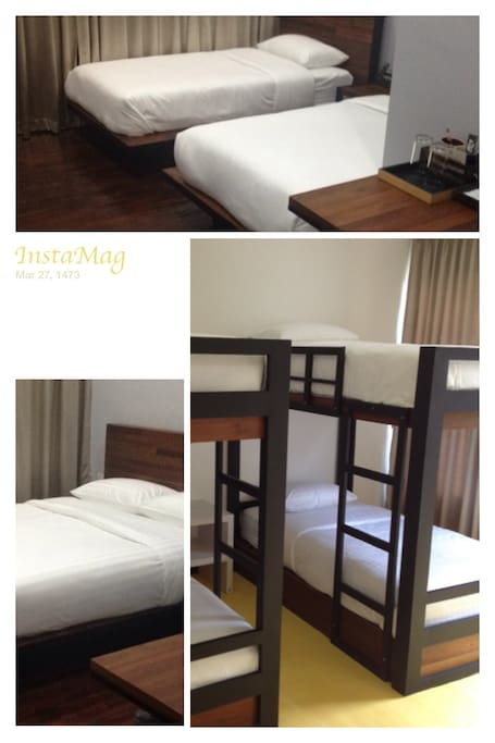 We also have bunk bed rooms that can accommondate up to 4 adults.