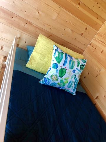 Twin size bed in second loft