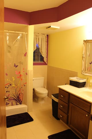 Your bathroom with shower