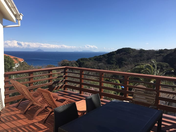 Great Ocean View. Ohama beach. XL Garden, BBQ Deck